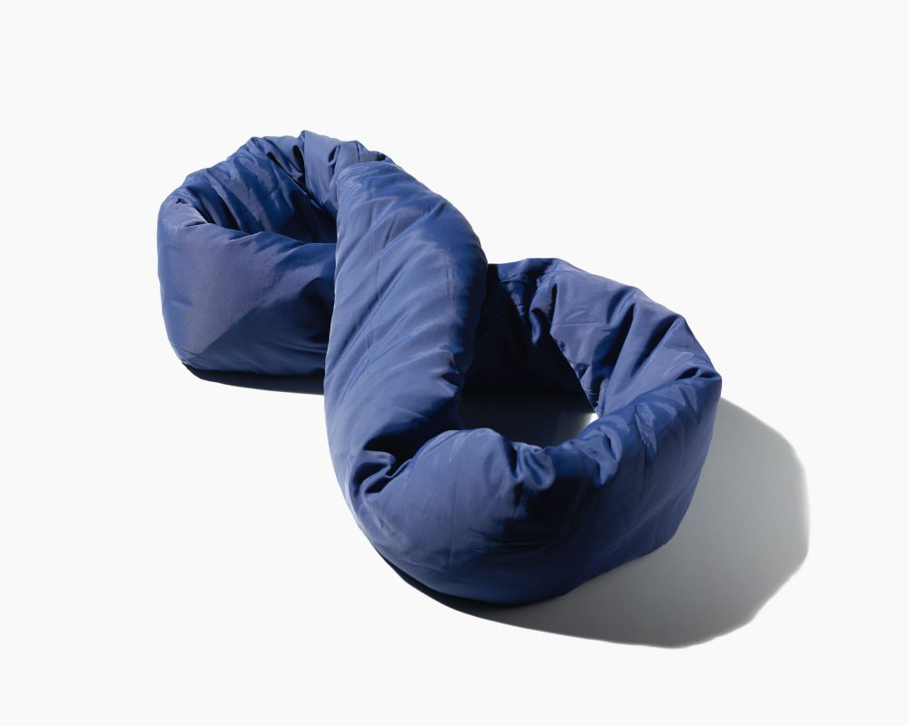 Navy travel pillow, neck pillow, back pillow, desk pillow all in one